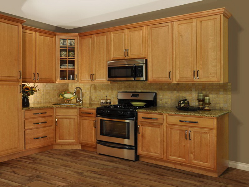 kitchen design ideas oak cabinets photo - 1