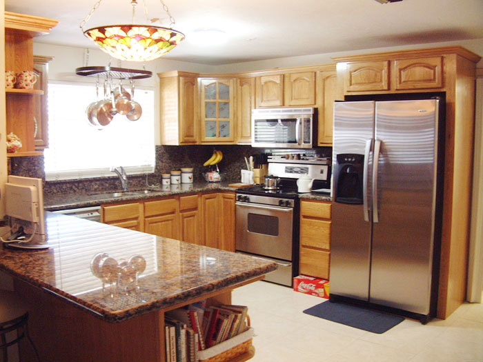 kitchen design ideas oak cabinets photo - 3