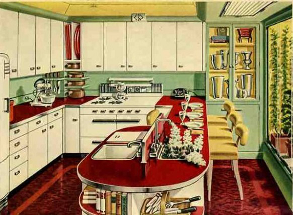 kitchen design ideas retro photo - 2