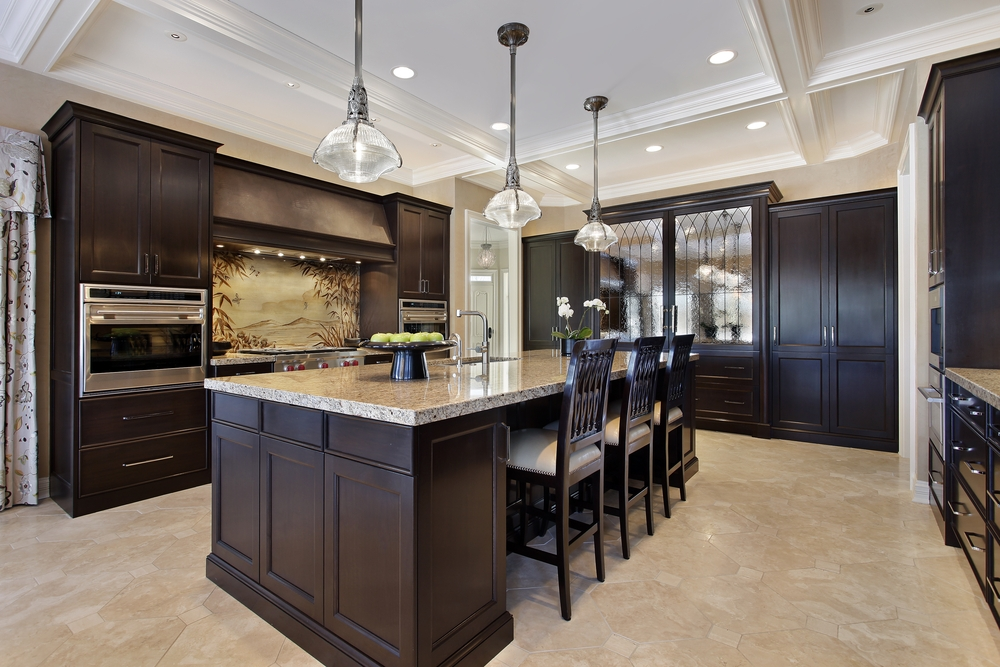 kitchen design ideas with dark cabinets photo - 1