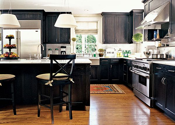 kitchen design ideas with dark cabinets photo - 3