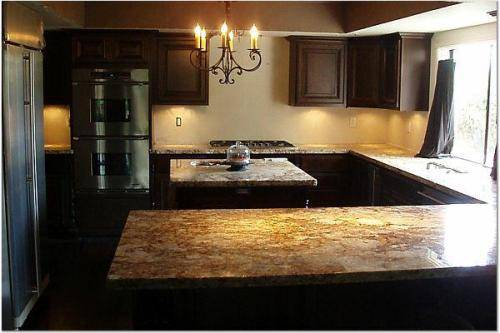 kitchen design ideas with dark cabinets photo - 6