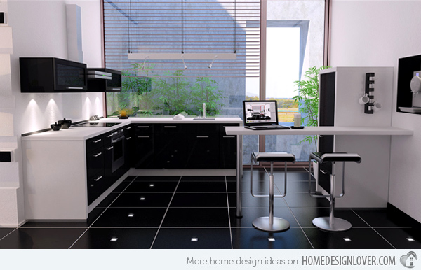 stunning kitchen black floor pictures - home design ideas
