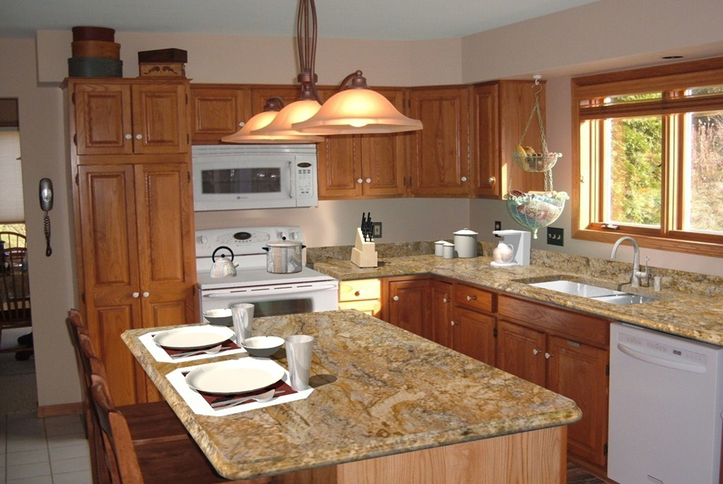 kitchen granite countertop design ideas photo - 5
