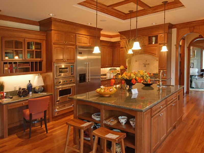 kitchen table with oak cabinets - Kitchen Design With Oak Cabinets