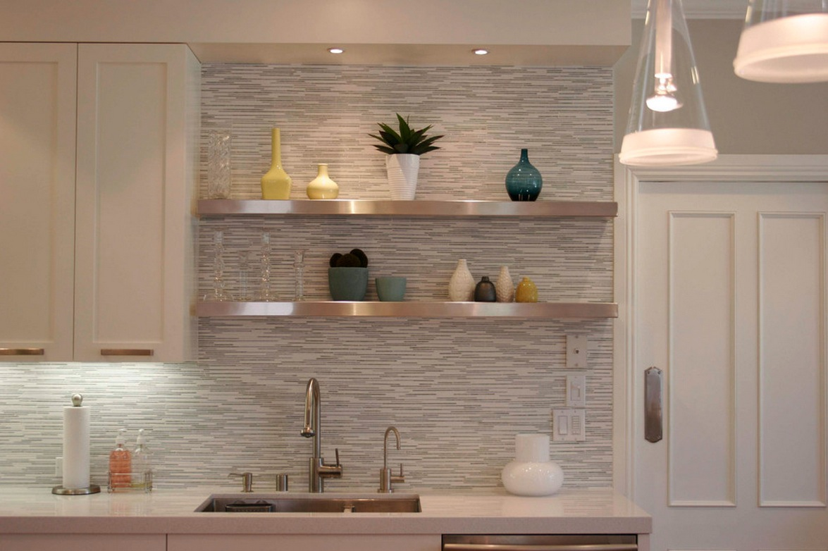 kitchen tile backsplash design ideas glass tile photo - 2