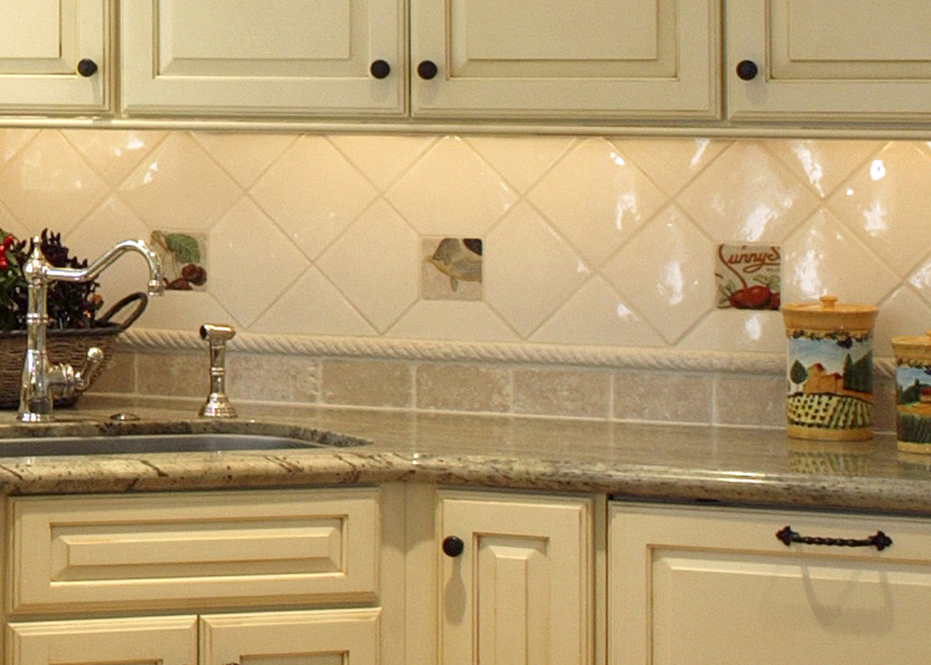 kitchen tile backsplash design ideas glass tile photo - 5