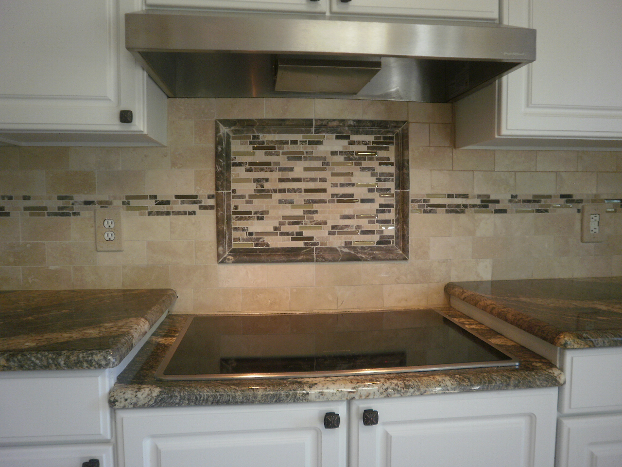 kitchen tile backsplash design ideas glass tile photo - 6