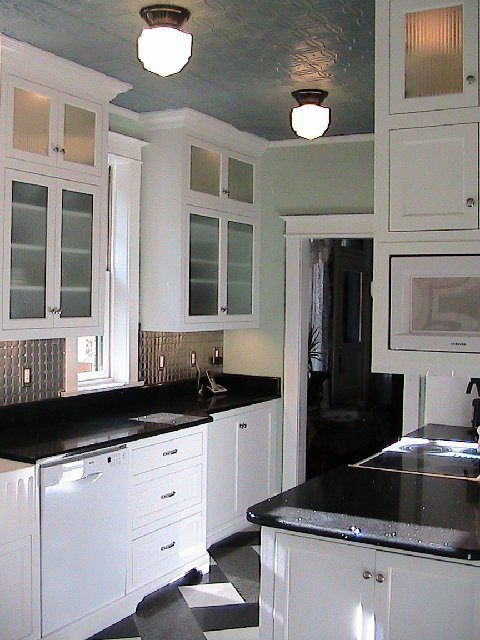 Black And White Kitchen Cabinets excellent white shaker kitchen cabinets dark wood floors kitchen
