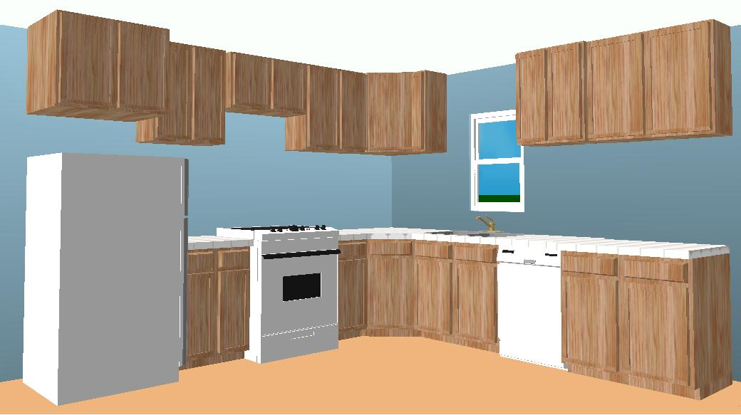 l shaped kitchen cabinets photo - 1