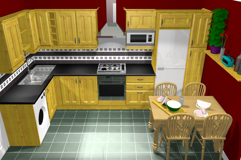 l shaped kitchen cabinets photo - 2