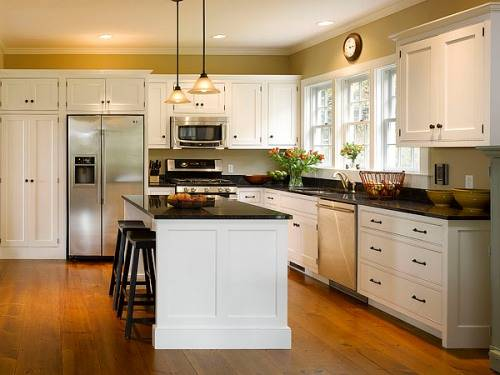 l shaped kitchen cabinets photo - 3