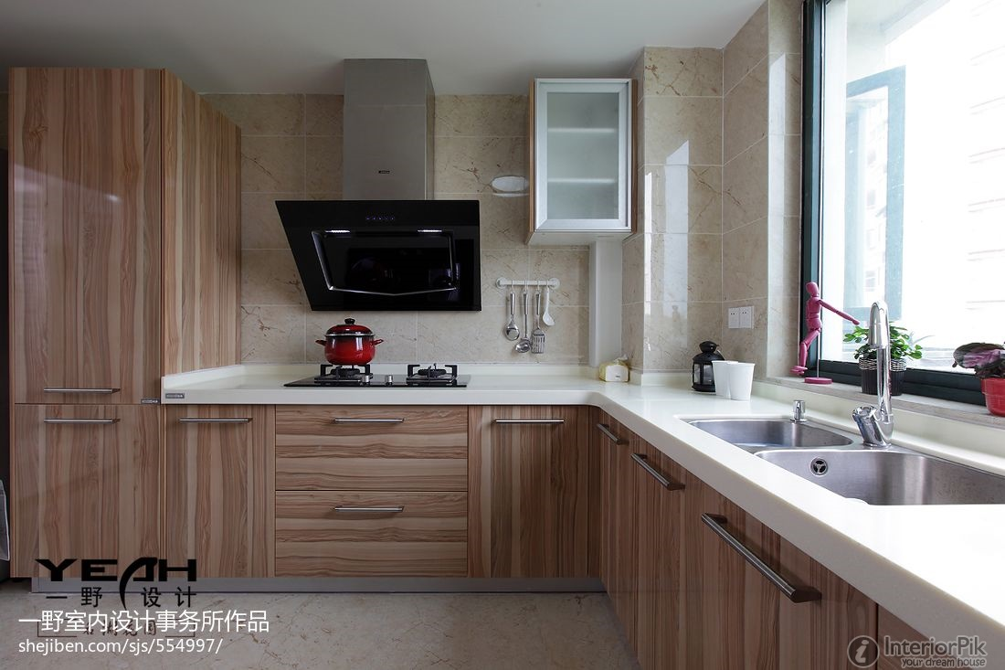 l shaped kitchen cabinets photo - 4