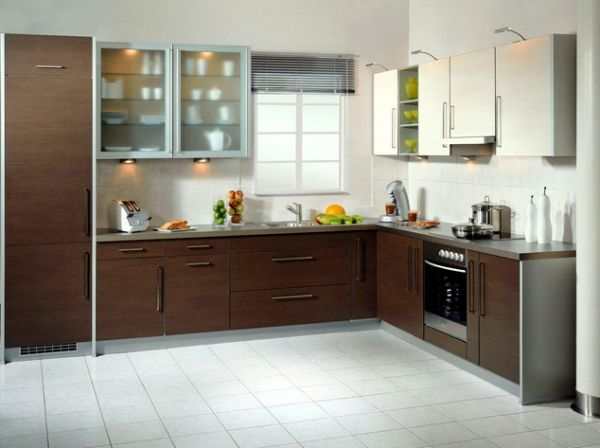 l shaped kitchen cabinets photo - 5