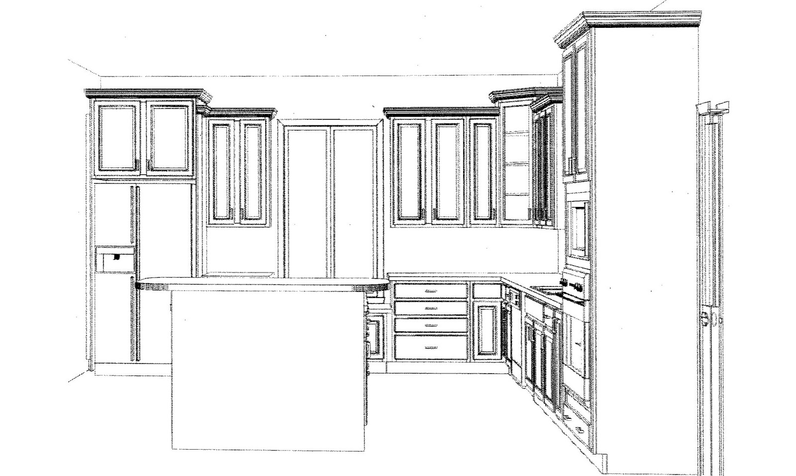 l shaped kitchen layouts design photo - 3