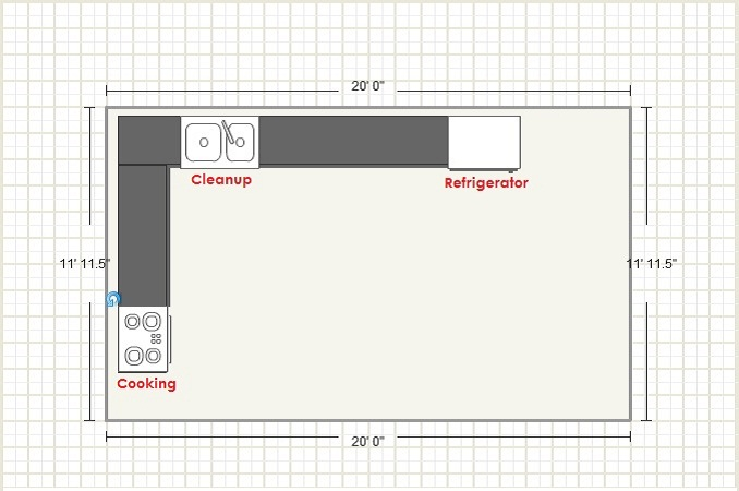 kitchen layout and design - square kitchen layout u shaped kitchen