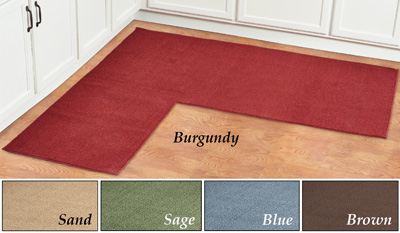 Corner Kitchen Rug Berber Corner Runner Textured Kitchen Rug With Non Skid Bungalow Flooring