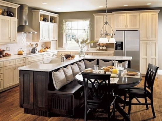 l shaped kitchen table photo - 4