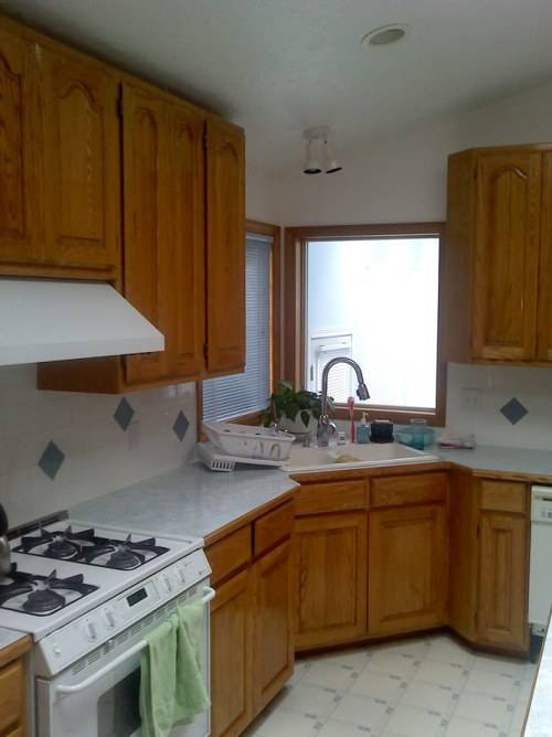 l shaped kitchen with corner sink photo - 4