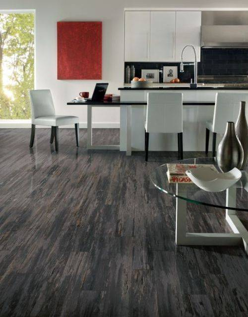laminate wood flooring grey photo - 2