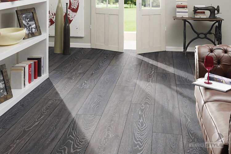 laminate wood flooring grey photo - 3