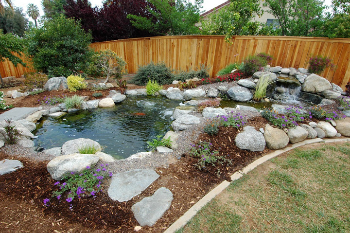 Beautiful Large Garden Pond Designs Photo   5
