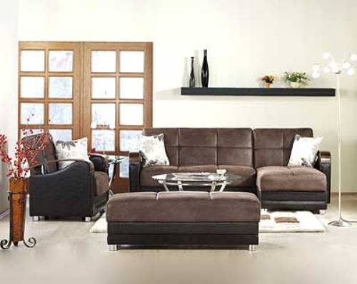 leather sectional sofa bed recliner photo - 3