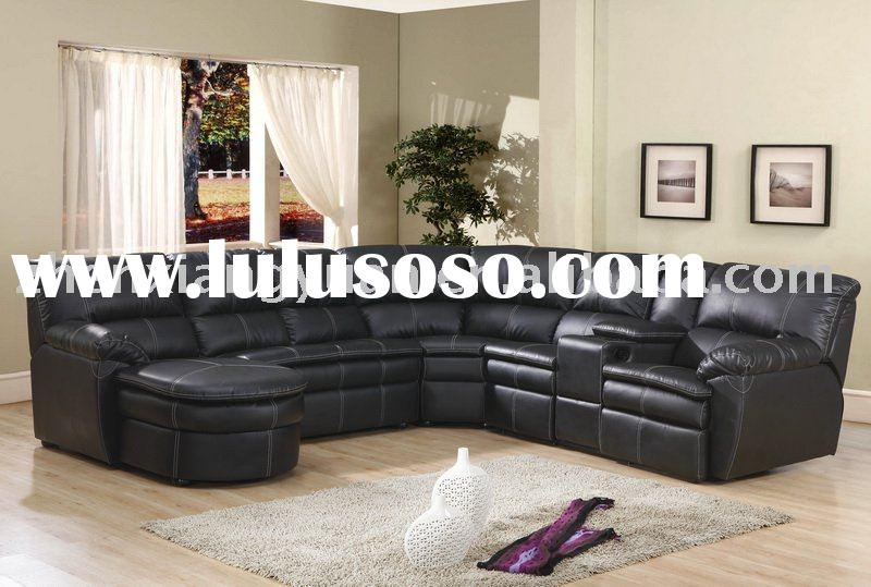 leather sectional sofa chaise recliner photo - 2