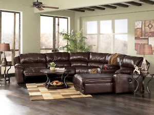 leather sectional sofa chaise recliner photo - 4