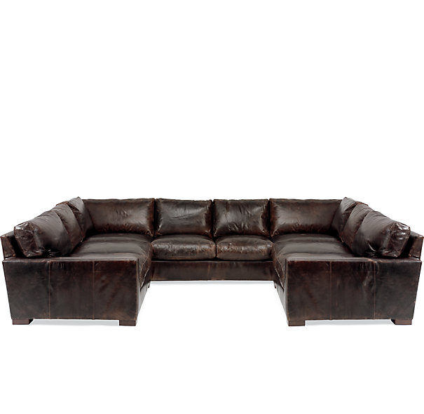 leather sectional sofa clearance photo - 1
