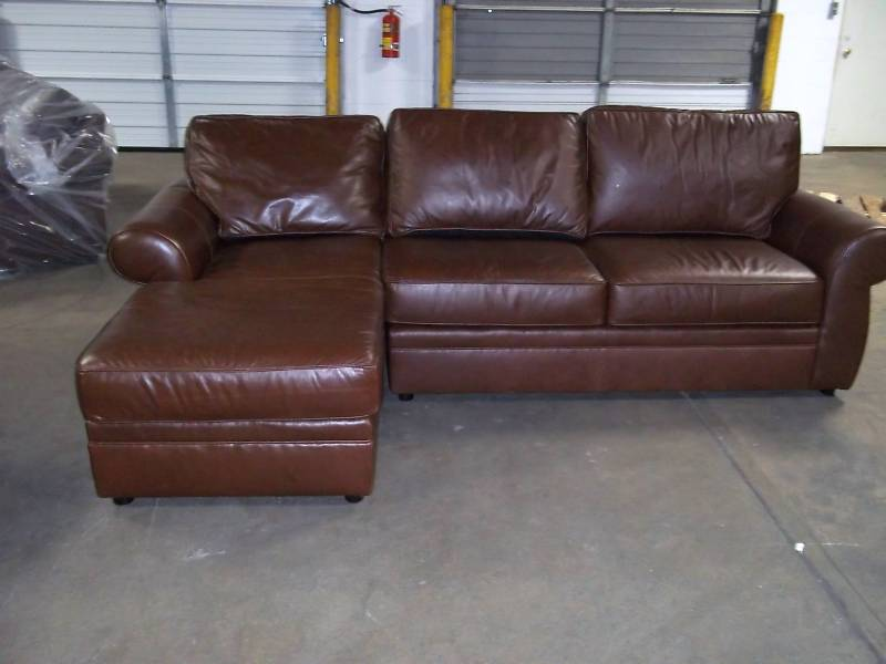 leather sectional sofas pottery barn photo - 3