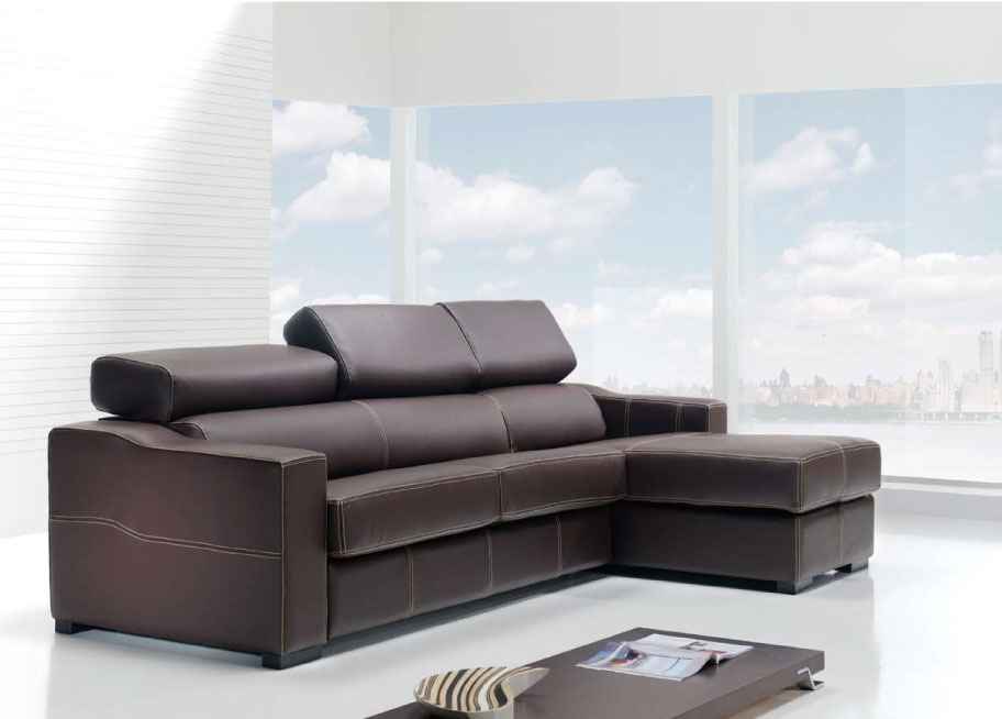 leather sleeper sectional sofa bed photo - 1