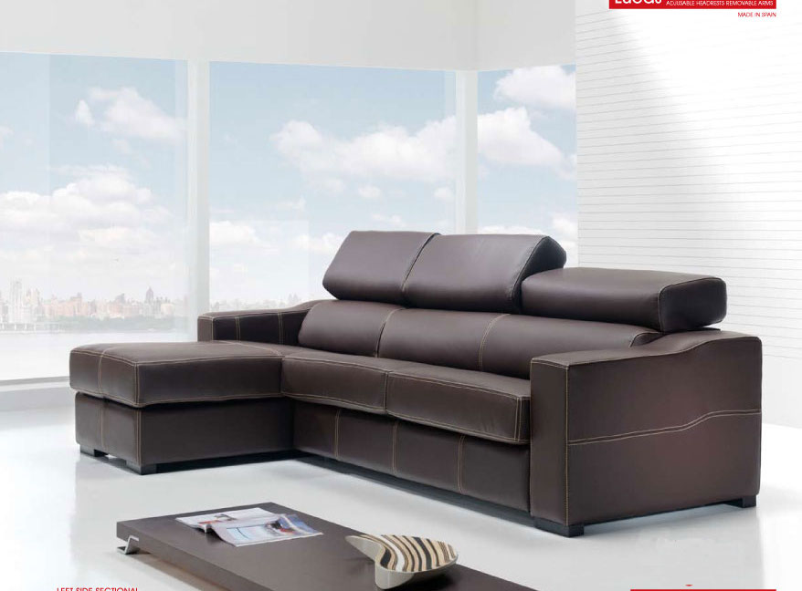 Leather Sleeper Sectional Sofa Bed Interior Exterior Doors
