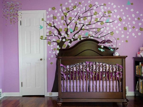 little girl room ideas purple photo - 3