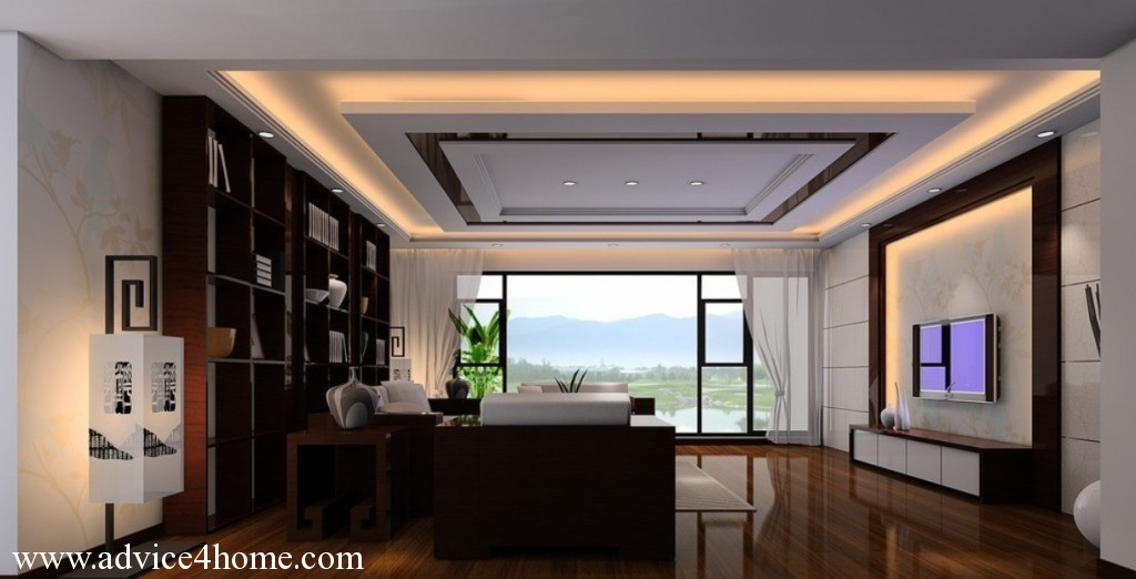 living room design high ceiling photo - 1