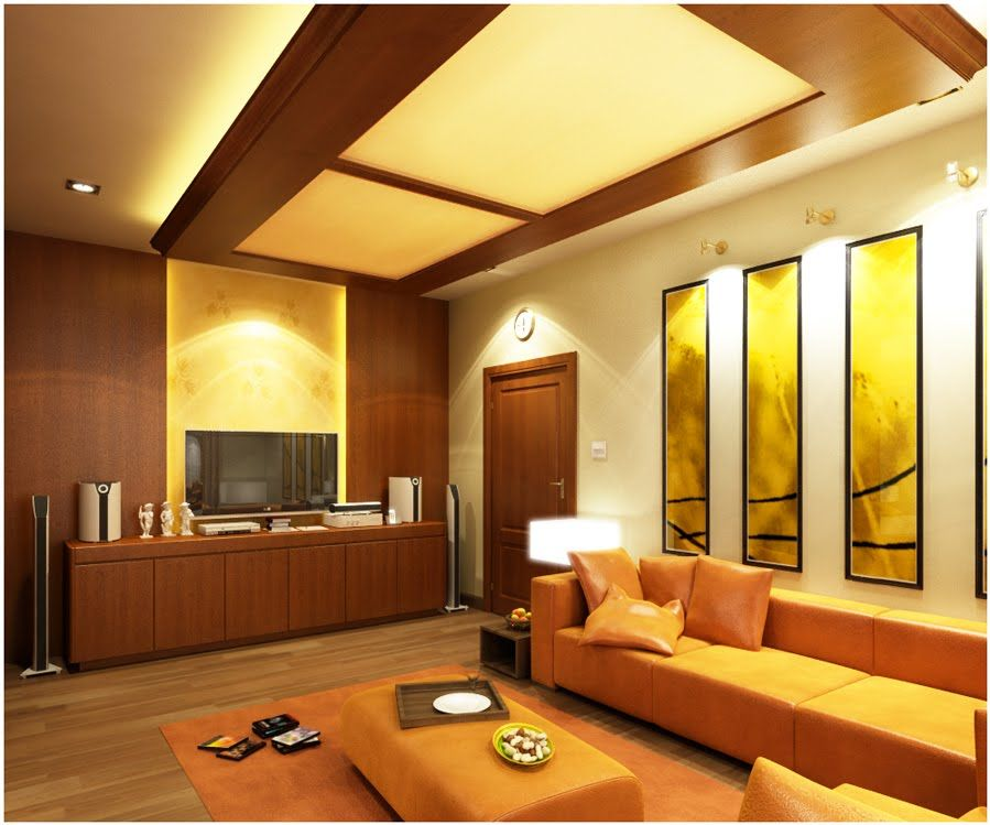 living room design high ceiling photo - 3