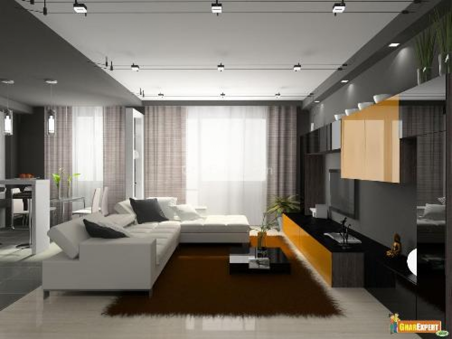 living room design lighting photo - 1