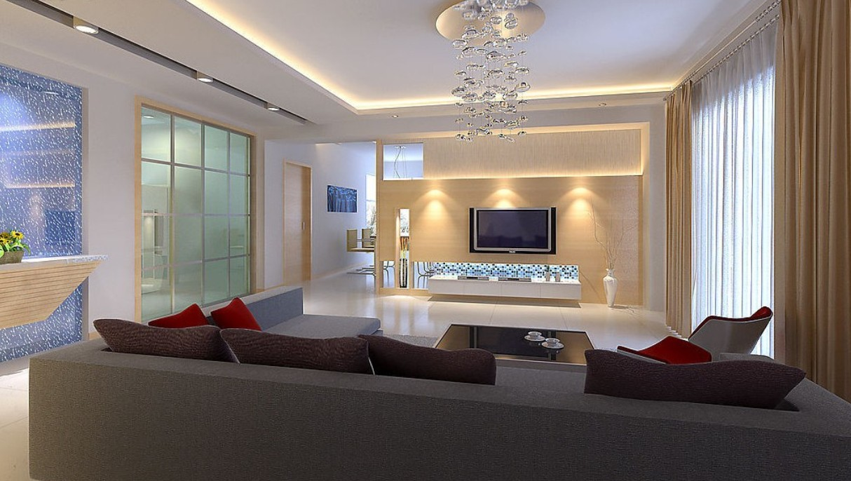 living room design lighting photo - 4
