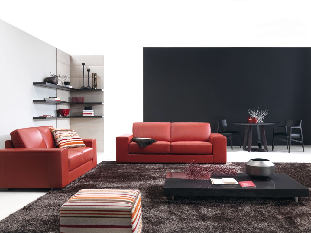 How to decorate living room with red sofa the best