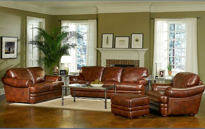 living room designs brown couch photo - 6