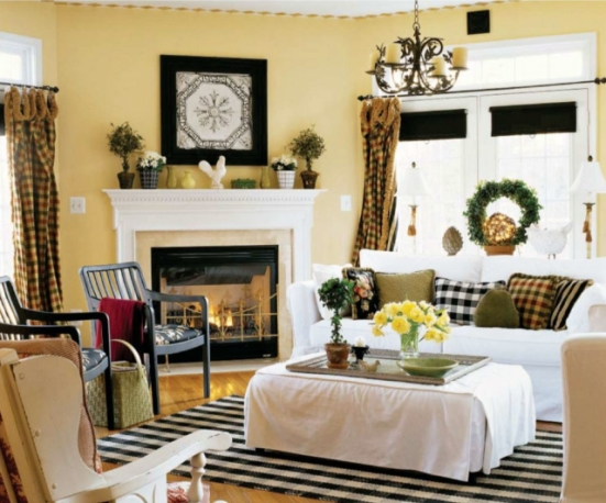 living room designs country photo - 1