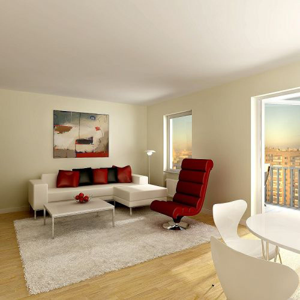 living room designs for apartments photo - 1