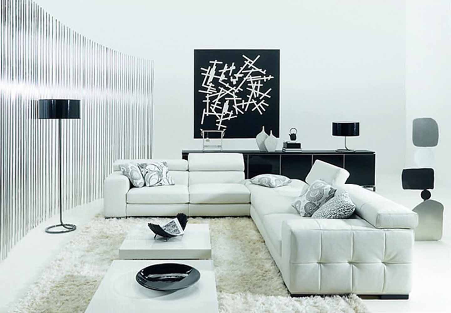 living room designs with white furniture photo - 2