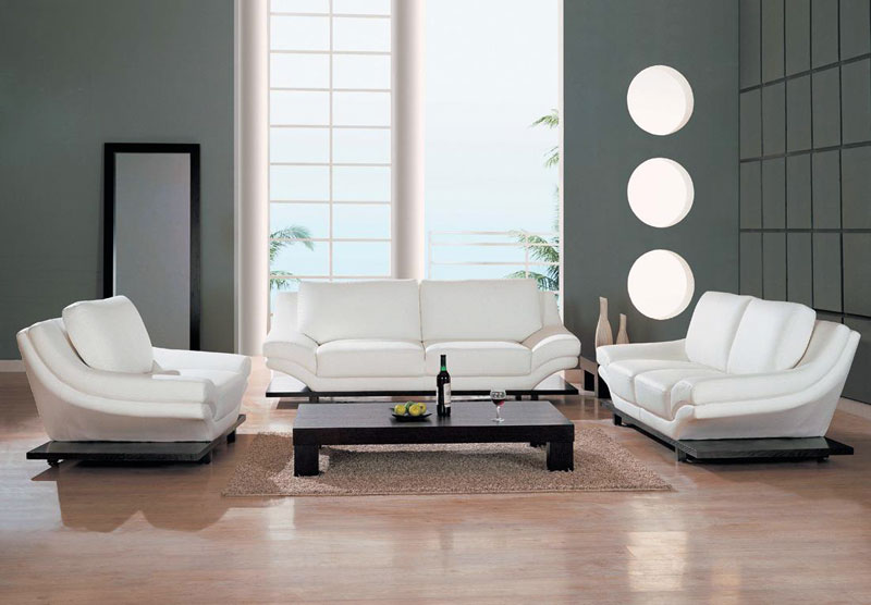 living room designs with white furniture photo - 3