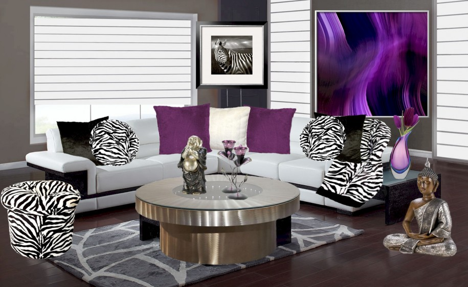living room designs zebra photo - 2