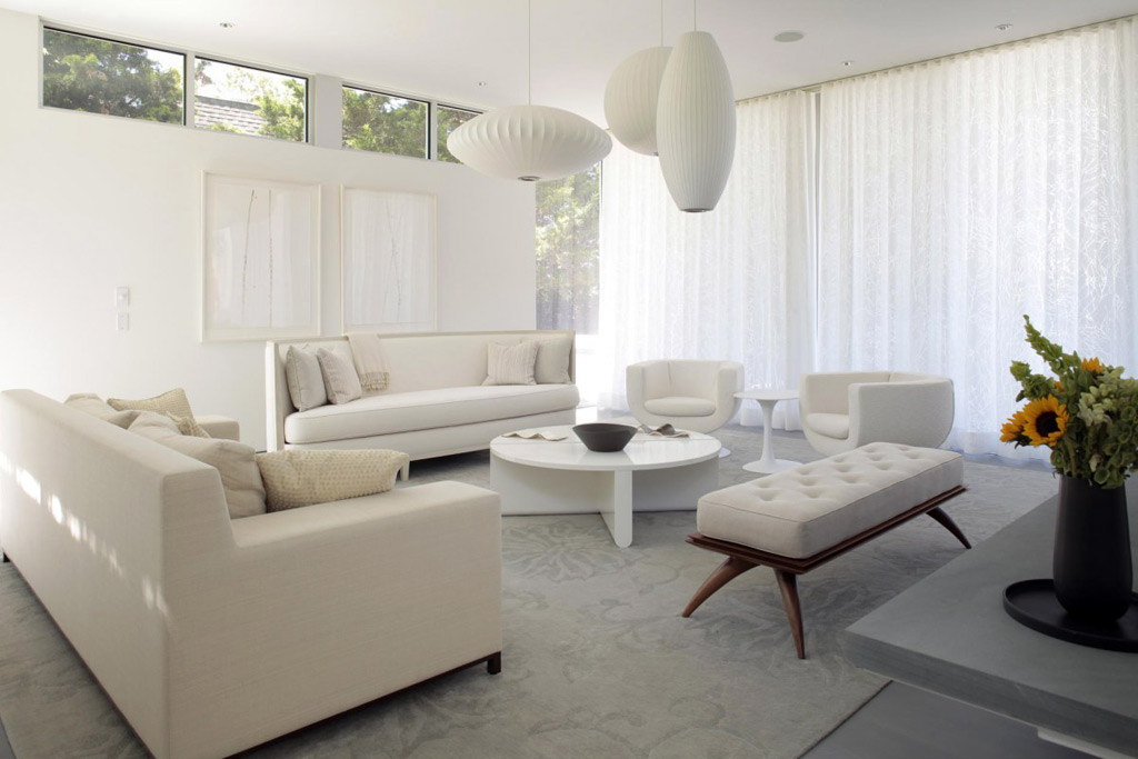 living room white furniture decorating ideas photo - 1