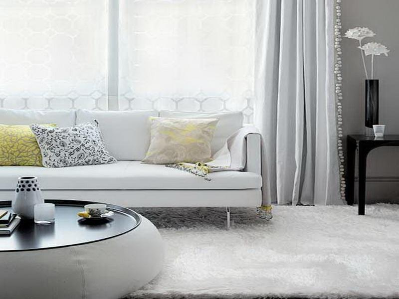 living room white furniture decorating ideas photo - 2