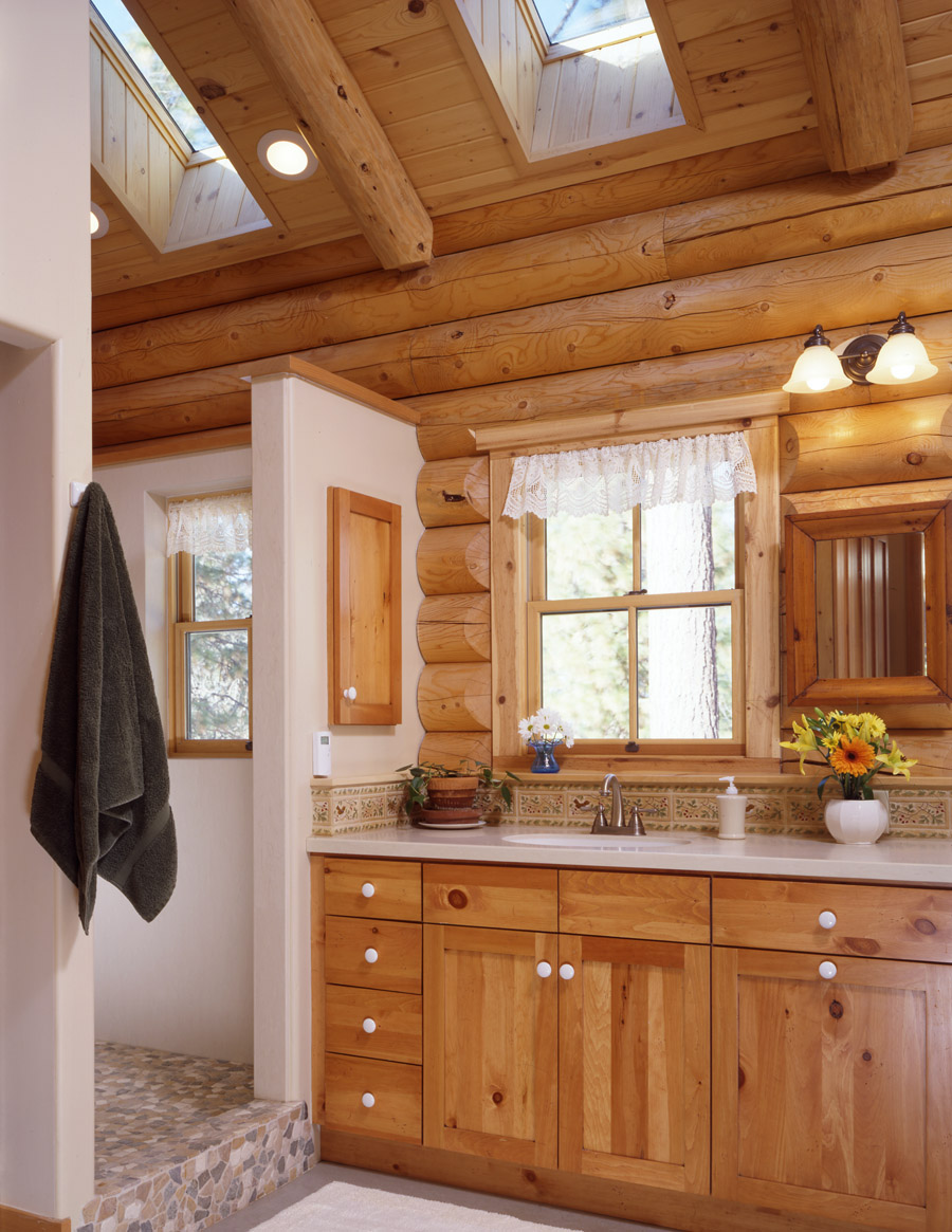 log home bathrooms photo - 3