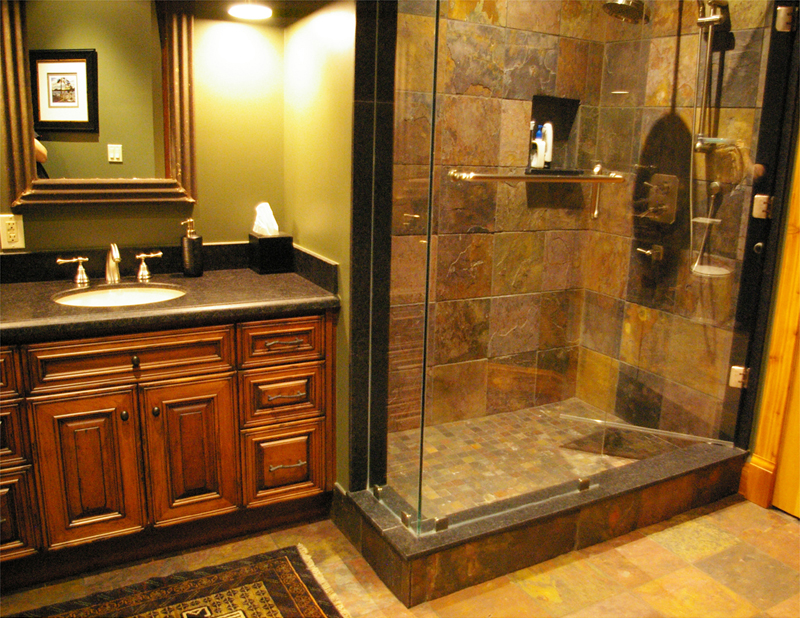 log home bathrooms photo - 5