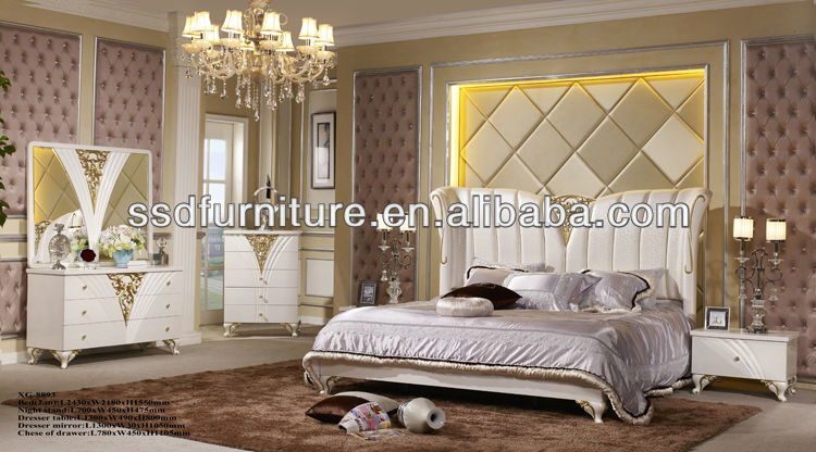 luxury mirrored bedroom furniture photo - 4